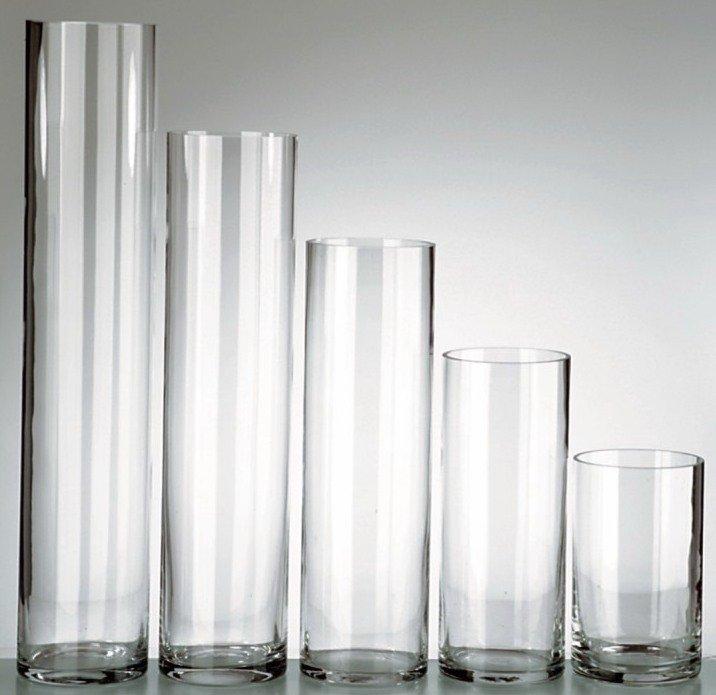 Cylinder Glass Vase 6x36 Petra Design